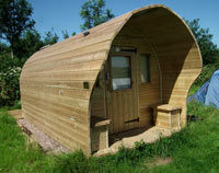 Three sizes of Camping Pods from Nomad Camping Pods